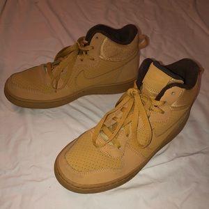 Nike Force 1 LU2 High Tops Tan Youth Sneakers